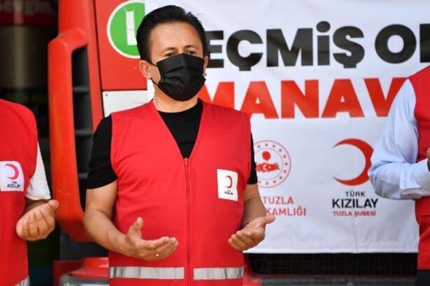 Yardım TIR'ı ve su tankerleri Manavgat için yola çıktı