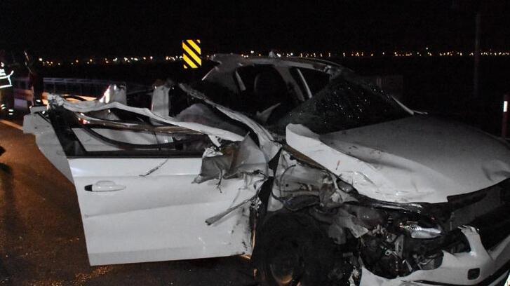 Düğün yolunda kaza: 2 ölü, 4 yaralı