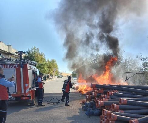 Sanayi sitesindeki yangın korkuttu