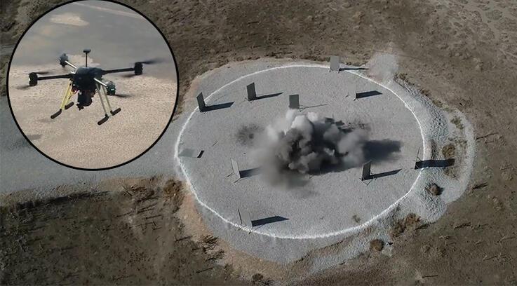 Yerli mini İHA hedefleri kolayca vuruyor, 35 dakika havada kalabiliyor!