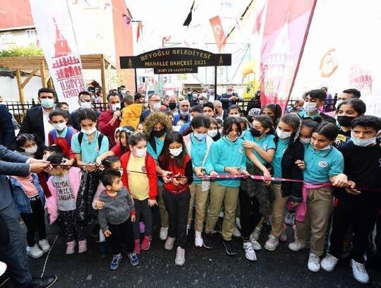 Beyoğlu'nda Şehit Er Salim Ünal Mahalle Bahçesi hizmete açıldı