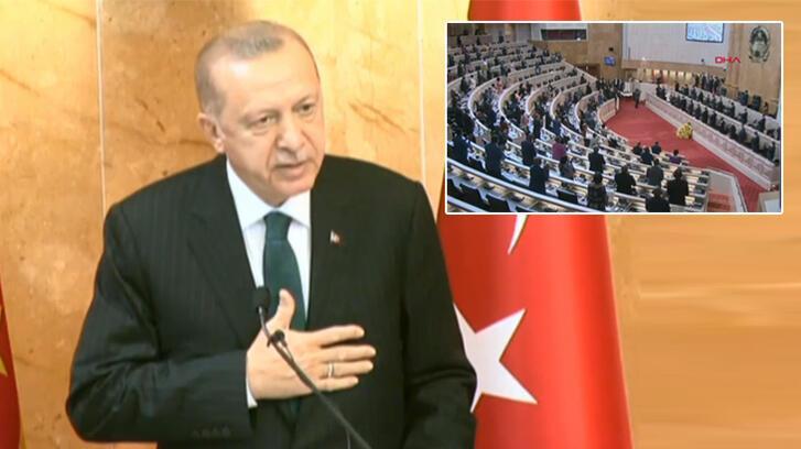 Son dakika! Cumhurbaşkanı Erdoğan, Angola Meclisi'nde konuştu: Bu yaklaşımları reddediyoruz