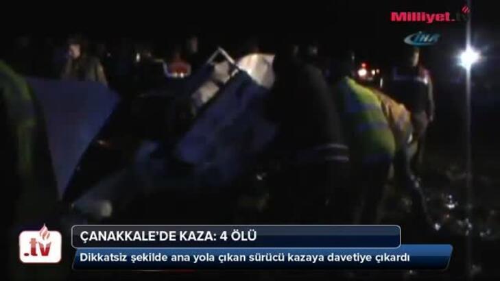 Çanakkale'de kaza: 4 ölü