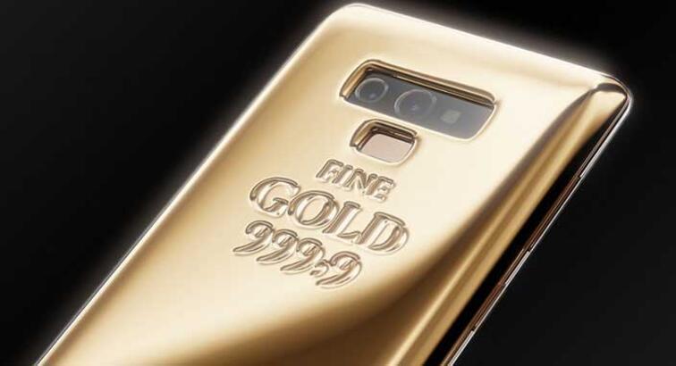 Galaxy Note 9 için saf altından 1 kg'lık kılıf üretildi