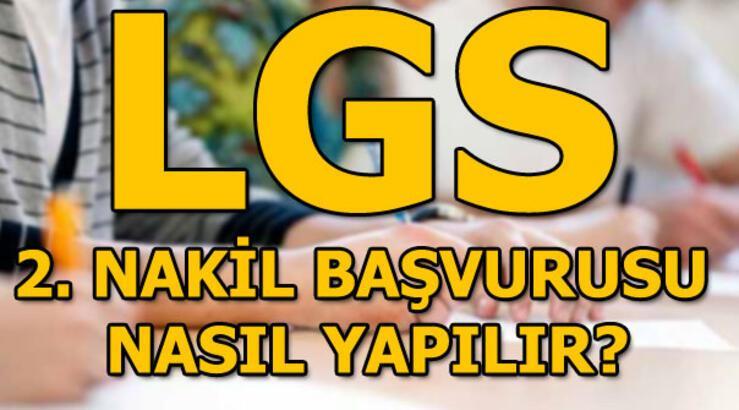 LGS 2. nakil başvuruları devam ediyor! MEB lise nakil işlemleri...