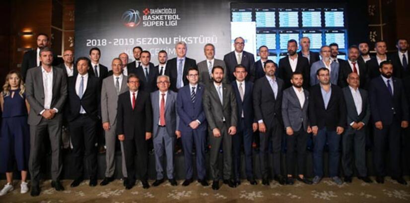 Tahincioğlu Basketbol Süper Ligi'nde fikstür çekildi