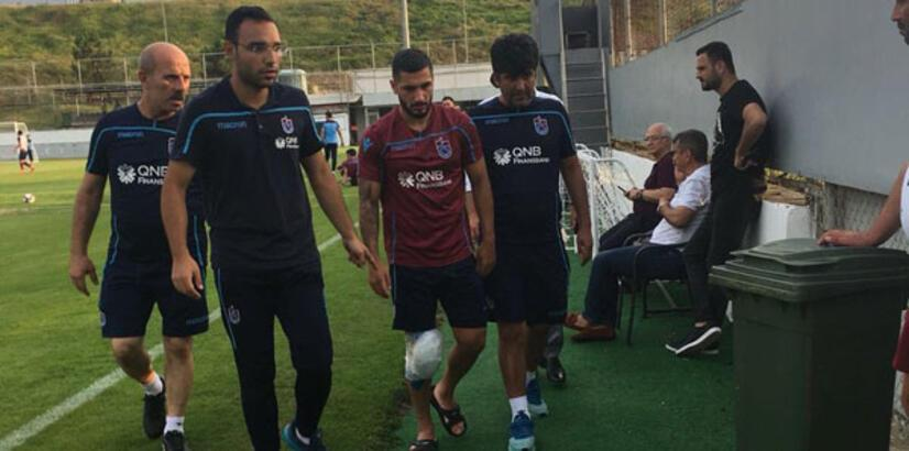 Trabzonspor antrenmanında şok sakatlık!