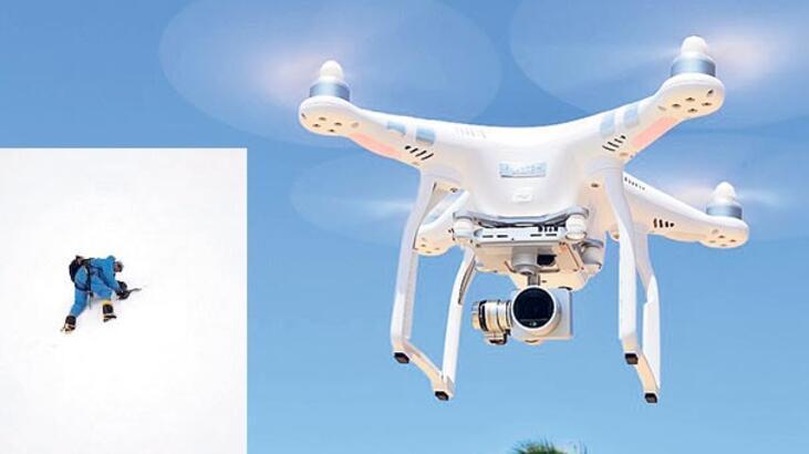 Drone dağcının hayatını kurtardı