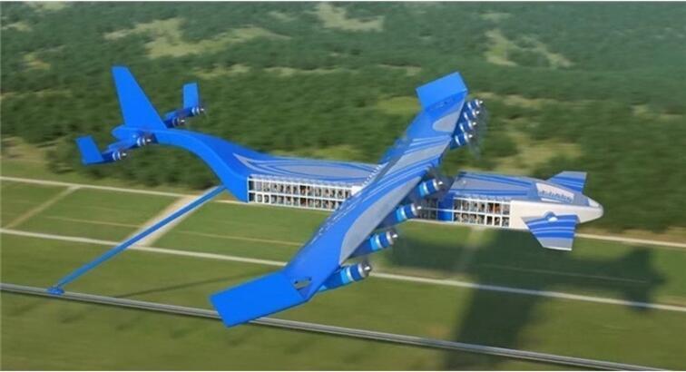 Türkiye'de yaşayan Rus mühendis uçan tren tasarladı