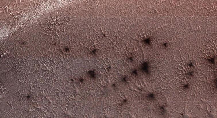 Mars örümceklerinin yeni görseli yayınlandı