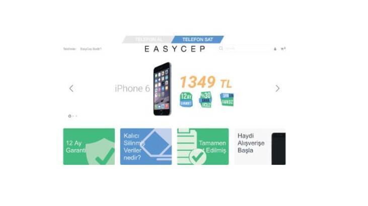'Telefon al-sat'ın kolay adresi EasyCep
