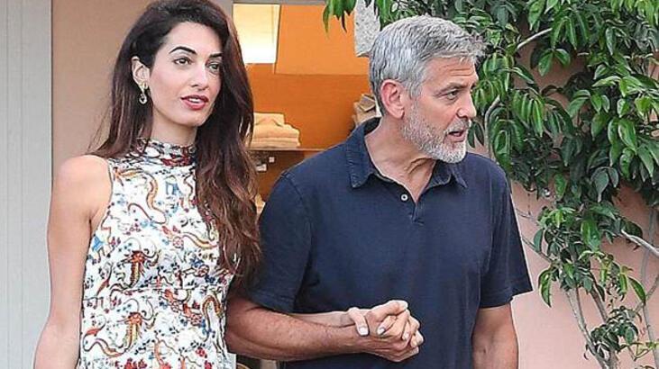 Clooney çiftinin İtalya kaçamağı