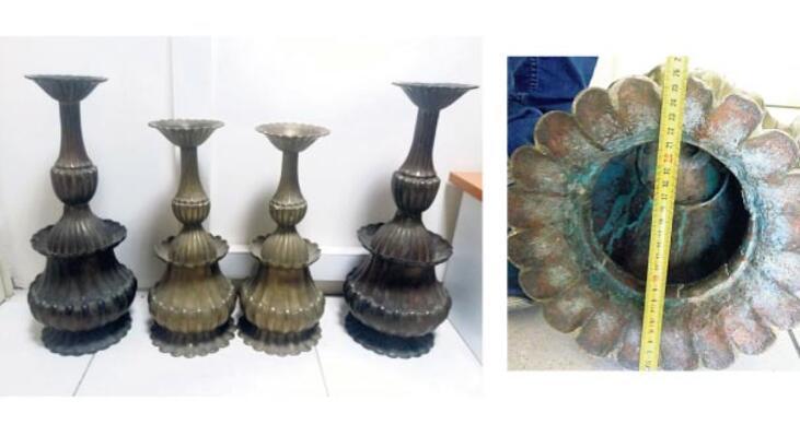 Çalıntı şamdanlar antika dükkânında