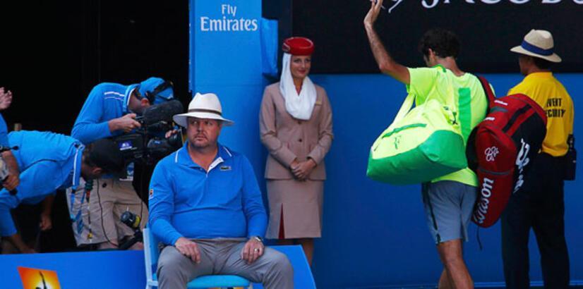 Avustralya Açık'ta günün sürpriz Federer!