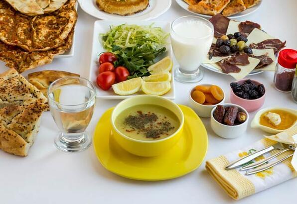 Değişik iftar menüleri