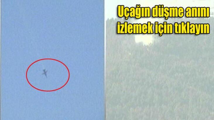 Suriye sınırında savaş uçağı düşürüldü...
