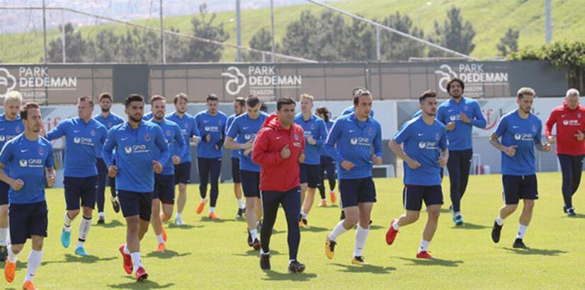 Trabzonspor şut çalıştı