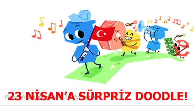23 Nisan Ulusal Egemenlik ve Çocuk Bayramı'na sürpriz doodle!