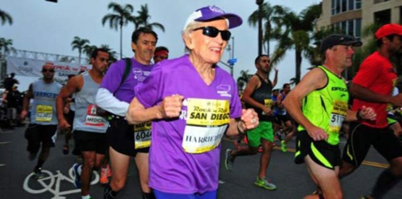 92 yaşındaki kadından 7 saatlik maraton rekoru