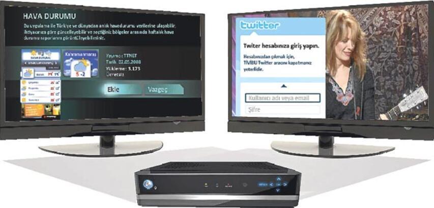 İnternet artık TV'de kumanda 'Tweet' atacak
