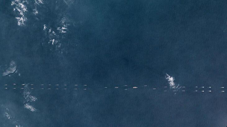 Çin'in güç gösterisi uydudan görüntülendi!