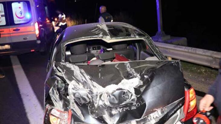 Araba bu hale geldi! Feci kaza