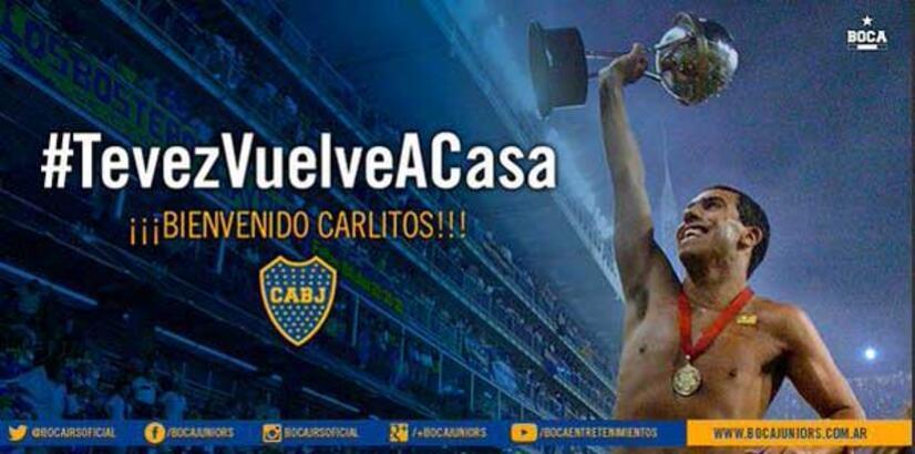 Tevez resmen Boca Juniors'ta!