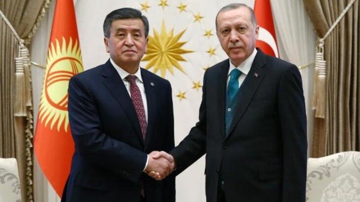 Cumhurbaşkanı Erdoğan mevkidaşı Ceenbekov onuruna yemek verdi