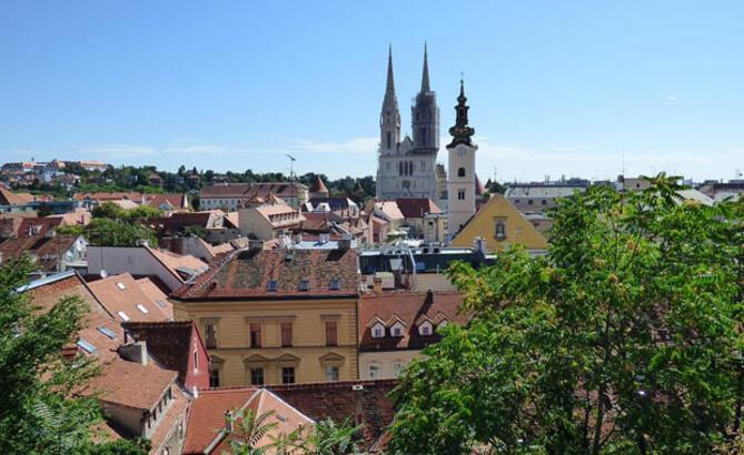 Dört mevsimin yaşandığı kent Zagreb
