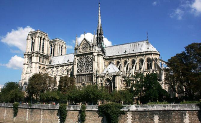 Paris'in sıfır noktası Notre Dame Katedrali