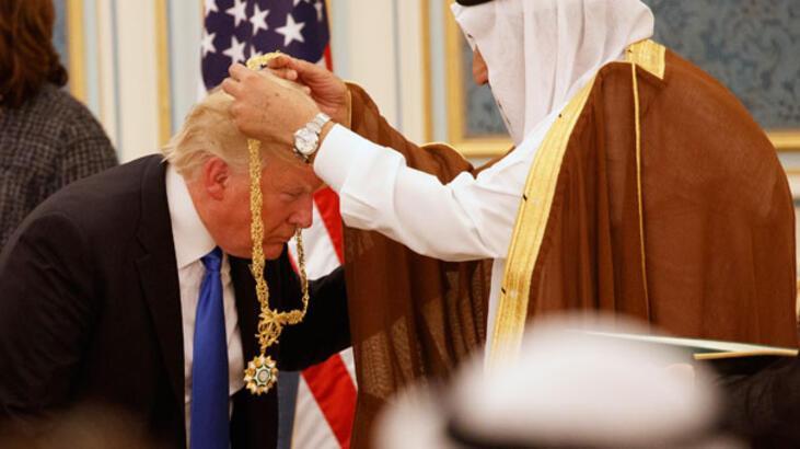 Son Dakika... Trump Suudi Arabistan'da! Kral'dan en üst düzey devlet nişanı