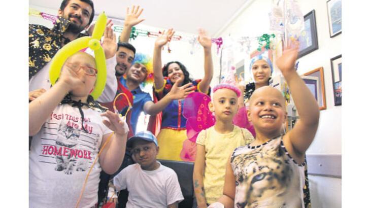 Çocukları mutlu eden melekler