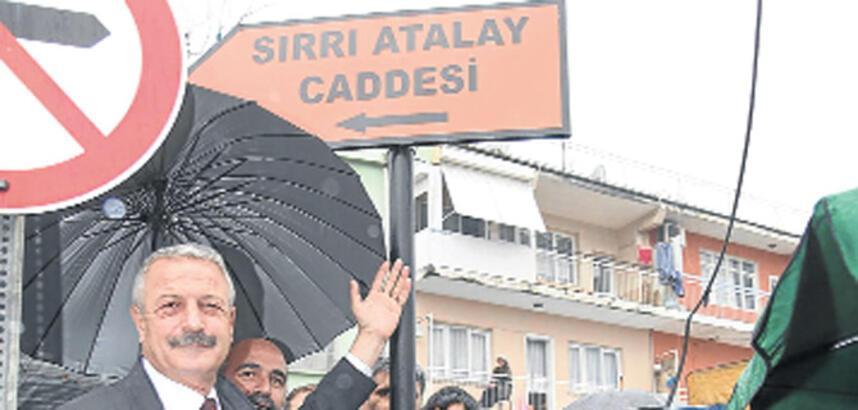 Sırrı Atalay'ın adı bir caddeye verildi