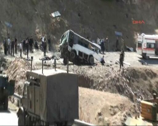 Bingöl'de 8 polis şehit oldu, 9 polis yaralandı