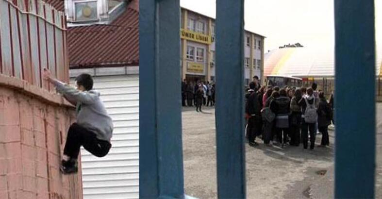 Müdür öğrencileri okula kilitledi