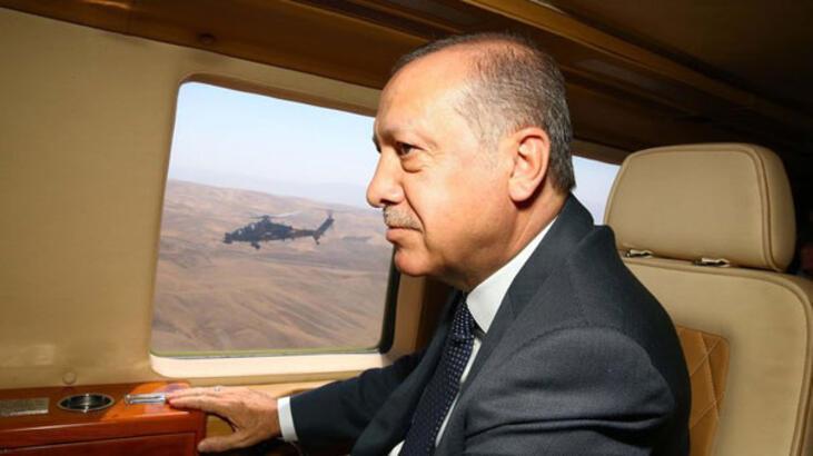 Cumhurbaşkanı Erdoğan alana böyle geldi
