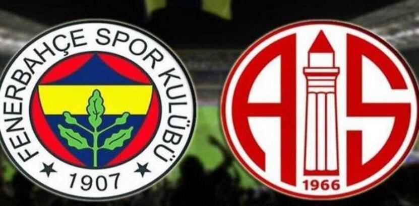 Fenerbahçe-Antalyaspor! İlk 11'ler...