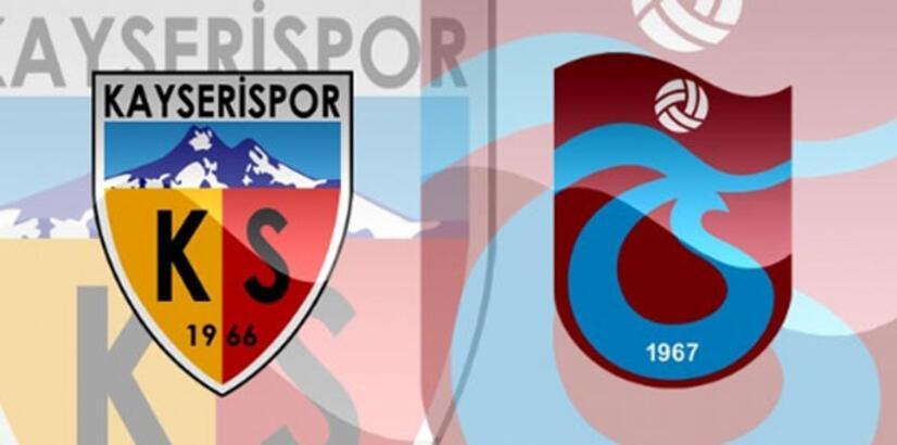 Trabzonspor ile Kayserispor 37. randevuda