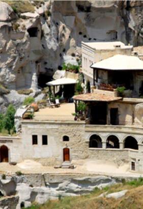 Kapadokya'da kalıntılardan yaratılan bir ev...