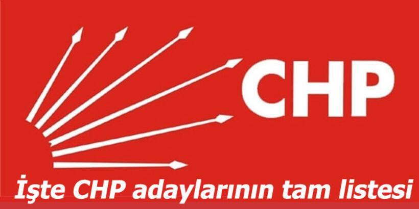 Son Dakika Haberleri: CHP'nin milletvekili aday listesi belli oldu!