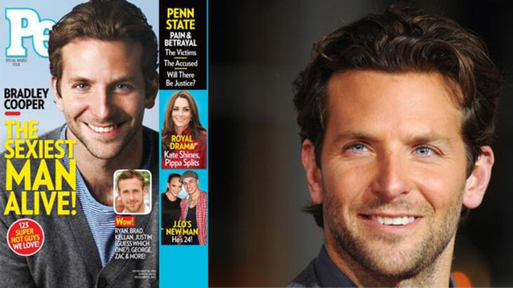"""Bradley Cooper, """"Yaşayan en seksi erkek"""" seçildi"""