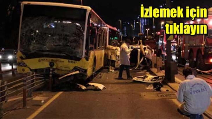 Metrobüs ile otomobil kafa kafaya çarpıştı: 5 ölü, 5 yaralı!
