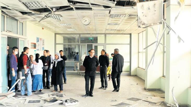 PKK'lılar hastaneyi yine roketle vurdu