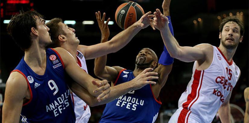 Anadolu Efes Avrupa Ligi'nde sahasında yarın Olympiakos'la karşılaşacak
