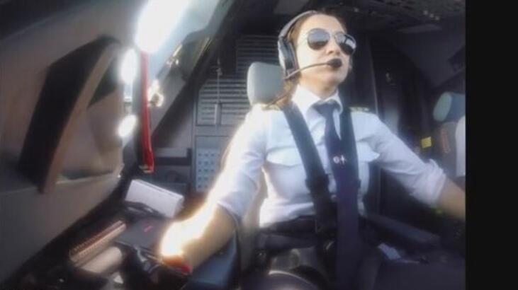 Yağmur Sarıoğlu'ndan 'uçak indirme' videosu