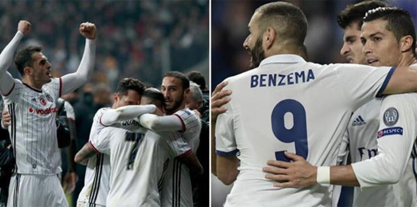Beşiktaş ve Real Madrid ünvanı koruma peşinde