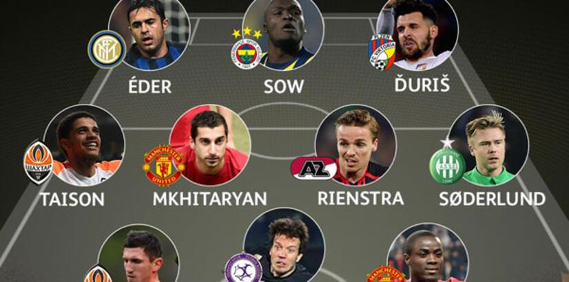 Sow ve Numan, UEFA Avrupa Ligi'nde haftanın 11'inde