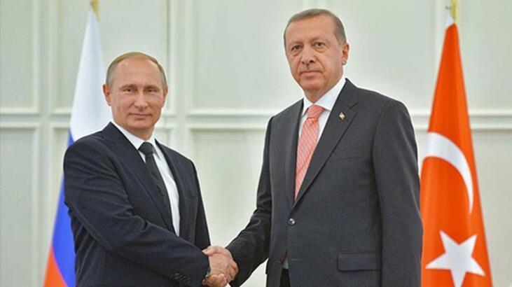 Son Dakika: Erdoğan, Putin ile Suriye'yi görüştü