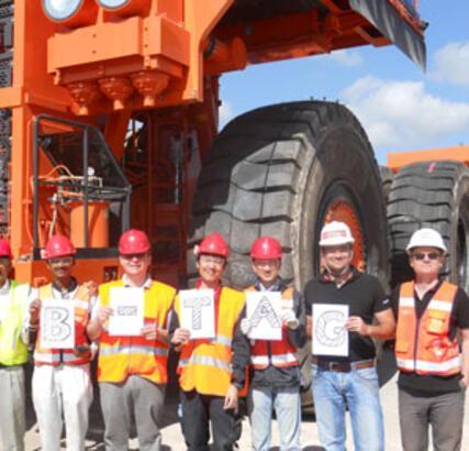 Bridgestone'un 3.9 tonluk dev lastiği Türkiye'de