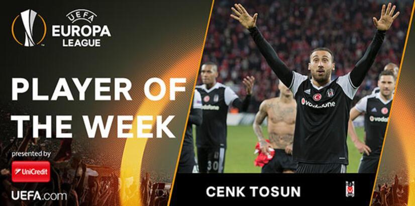 UEFA Avrupa Ligi'nde haftanın oyuncusu Cenk Tosun!